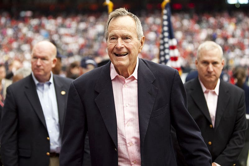 Honoring Former President George H.W. Bush Today