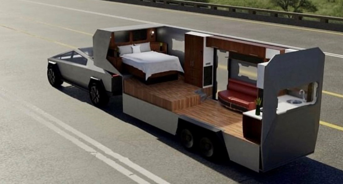 Tesla Cybertruck Capable Enough To Power Up A Camper Vehicle.